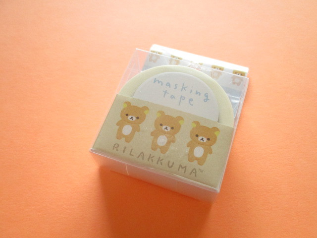 Photo1: Kawaii Cute Mini Masking Tape/Deco Tape Sticker San-x *Rilakkuma (SE44601)