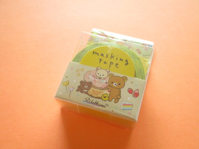 Photo1: Kawaii Cute Mini Masking Tape/Deco Tape Sticker San-x *Rilakkuma (SE44401)