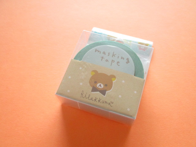 Photo1: Kawaii Cute Mini Masking Tape/Deco Tape Sticker San-x *Rilakkuma (SE44701)