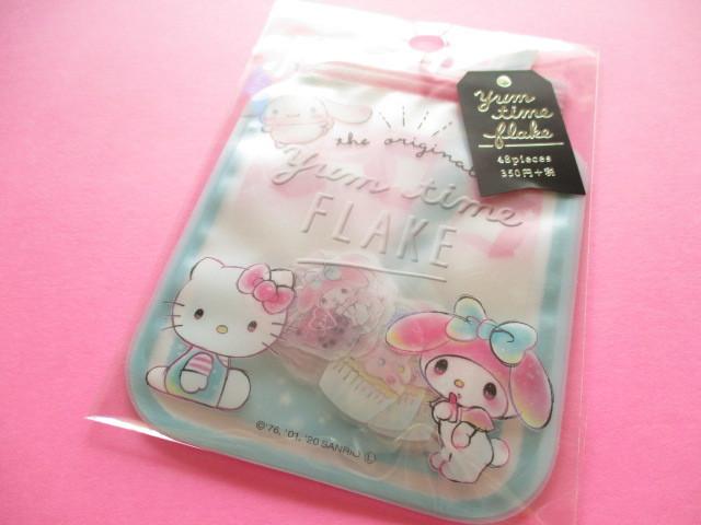 Photo1: Kawaii Cute Yum Time Sticker Flakes Sack Crux *Sanrio Characters (52661)