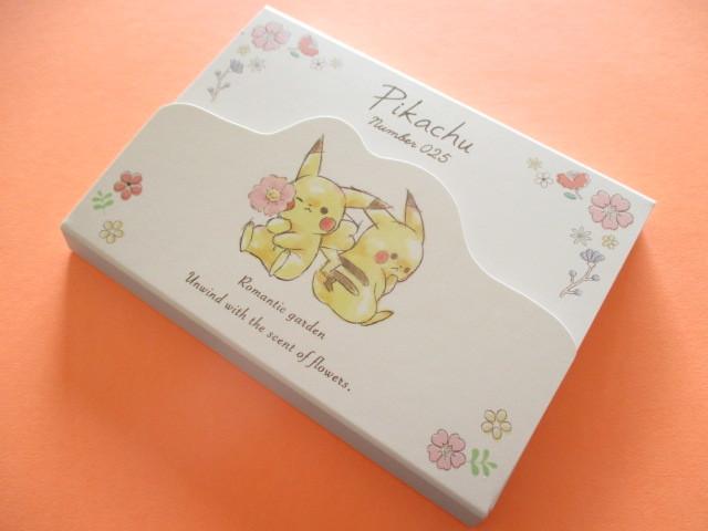 Photo1: Kawaii Cute Pikachu Large Memo Pad Cute Model *Flower (17901)