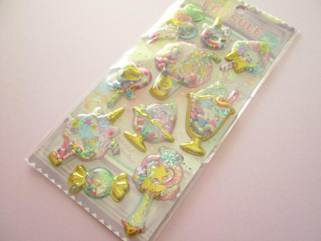 Photo1: Kawaii Cute Capsule Koeln Sticker Sheet Q-LiA *Fluffy Cotton Candy (41103)
