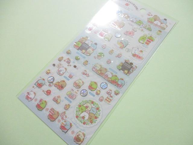 Photo1: Kawaii Cute Sticker Sheet Sumikkogurashi San-x *Strawberry Fair (SE44101)