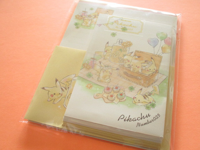 Photo1: Kawaii Cute Pikachu Letter Set Cute Model *Picnic (17820)