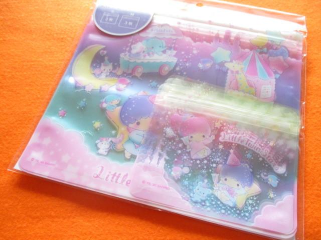 Photo1: 6pcs Kawaii Cute Zipper Bags Set Sanrio Original *Little Twin Stars (25408-8)