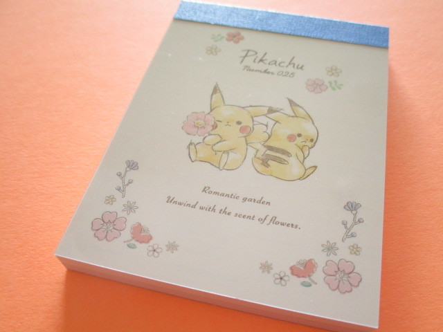 Photo1: Kawaii Cute Pikachu Mini Memo Pad Cute Model *Flower (17996)