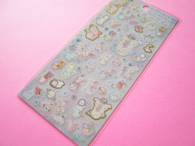 Photo1: Kawaii Cute Sticker Sheet Sentimental Circus San-x *想い出時空めぐり (SE46001)
