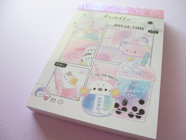 Photo1: Kawaii Cute Keshikko Mini Memo Pad Crux *Break Time (56841)