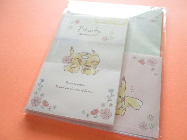 Photo1: Kawaii Cute Pikachu Letter Set Cute Model *Flower (17821)
