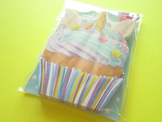 Photo1: Kawaii Cute Delicafe Die-Cut Medium Memo Pad Q-LiA *Cupcake (40110)