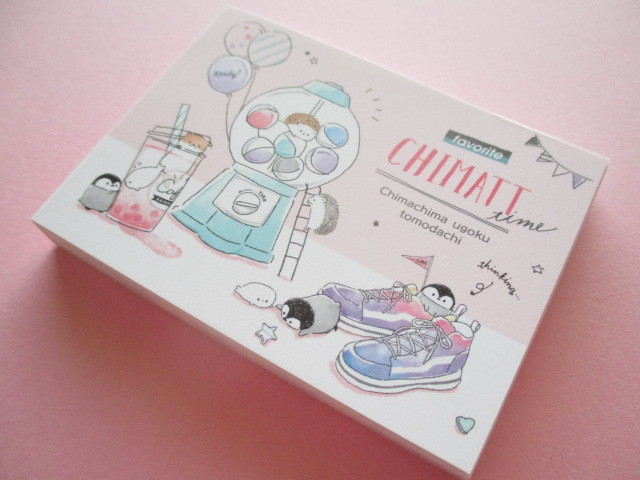 Photo1: Kawaii Cute Mini Memo Pad Chimatt Stationery Q-LiA *Capsule (44608)