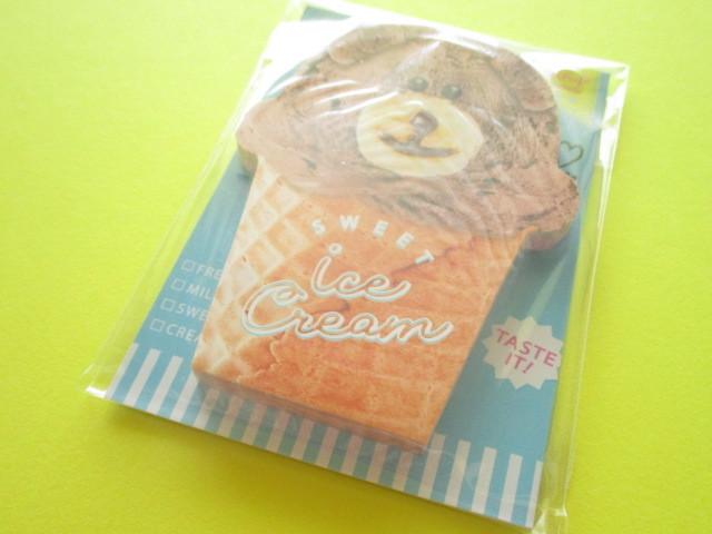 Photo1: Kawaii Cute Delicafe Die-Cut Medium Memo Pad Q-LiA *Ice cream (40109)