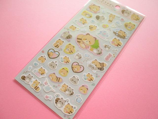Photo1: Kawaii Cute Sticker Sheet Kokoroaraiguma San-x *ココロもすっきりおせんたく (SE46801)