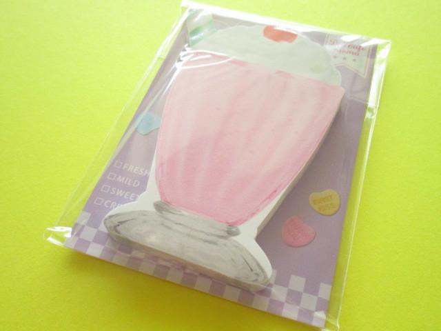 Photo1: Kawaii Cute Delicafe Die-Cut Medium Memo Pad Q-LiA *Milkshake (40111)