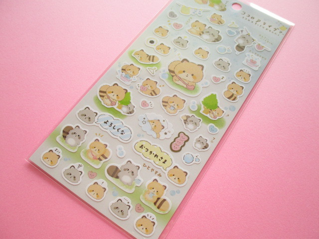 Photo1: Kawaii Cute Sticker Sheet Kokoroaraiguma San-x *ココロもすっきりおせんたく (SE46701)