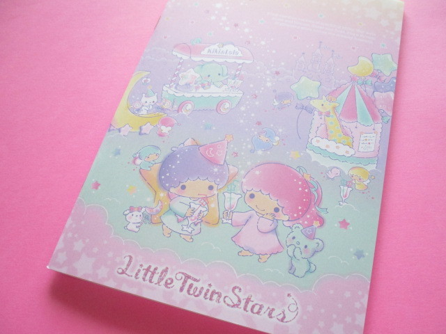 Photo1: Kawaii Cute A5 Notebook Sanrio Original *Little Twin Stars (35624-7)