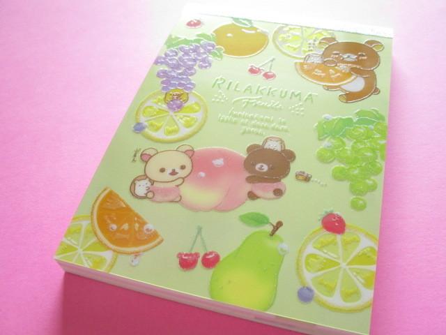 Photo1: Kawaii Cute Large Memo Pad Rilakkuma San-x *Fruits (MW59201)