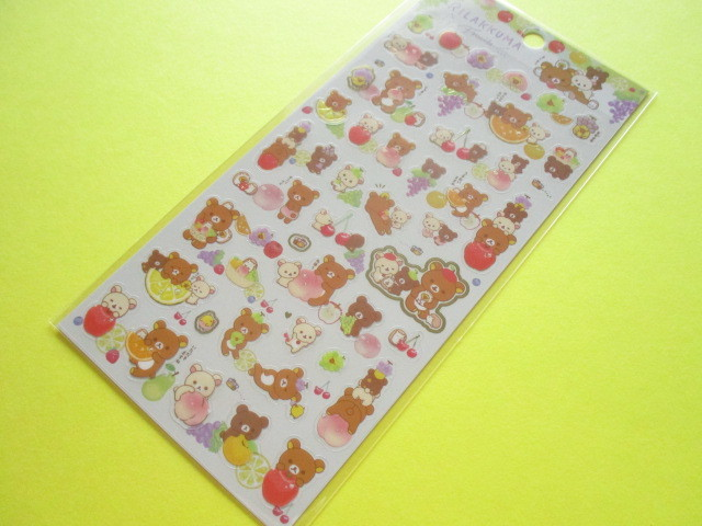 Photo1: Kawaii Cute Sticker Sheet Rilakkuma San-x *Fruits (SE44201)