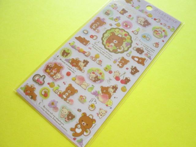 Photo1: Kawaii Cute Sticker Sheet Rilakkuma San-x *Fruits (SE44301)