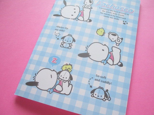 Photo1: Kawaii Cute A5 Notebook Sanrio Original *Pochacco (35634-4)