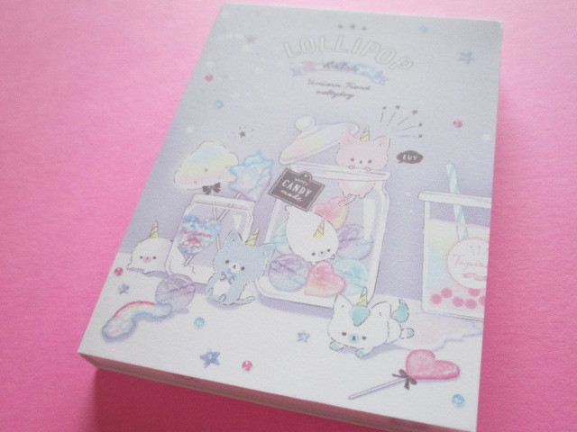 Photo1: Kawaii Cute Mini Memo Pad Q-LiA *Lollipop Holic (40161)