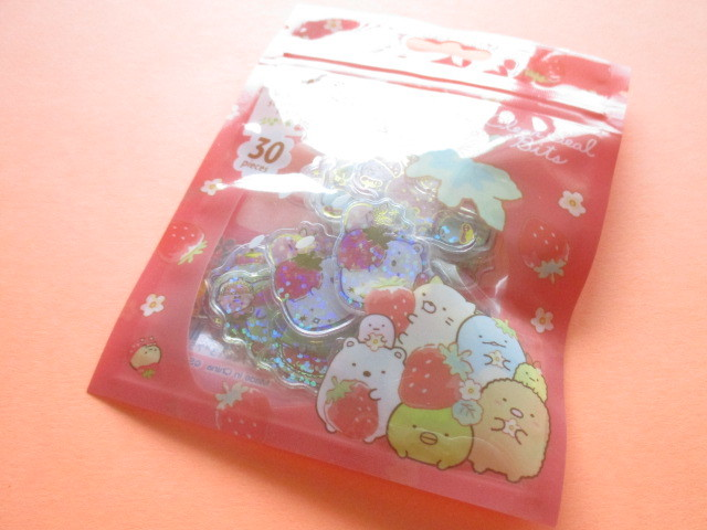 Photo1:  Kawaii Cute Clear Seal Bits Sticker Flakes Sack San-x *Sumikkogurashi (SE46204)