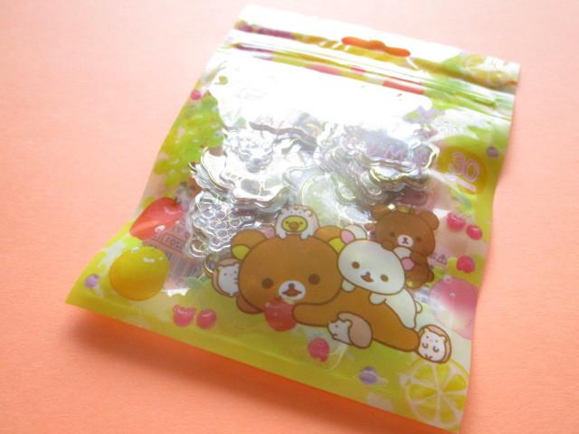 Photo1:  Kawaii Cute Clear Seal Bits Sticker Flakes Sack San-x *Rilakkuma (SE46201)
