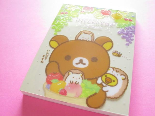 Photo1: Kawaii Cute Large Memo Pad Rilakkuma San-x *Fruits (MW59101)