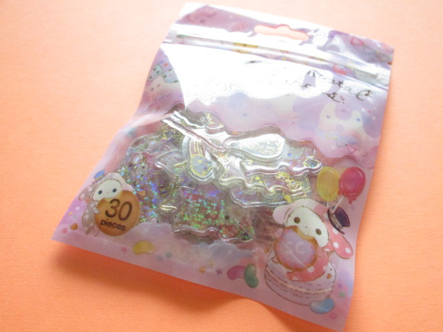 Photo1:  Kawaii Cute Clear Seal Bits Sticker Flakes Sack San-x *Sentimental Circus (SE46207)