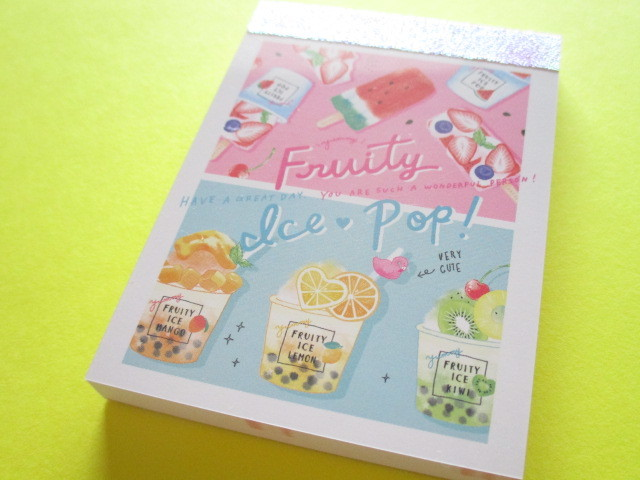 Photo1: Kawaii Cute Mini Memo Pad Crux *Fruity (56795)