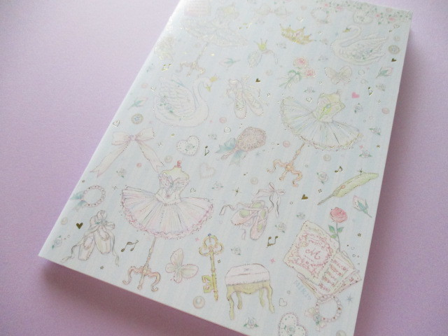 Photo1: Kawaii Cute A5 Notebook たけい みき(Miki Takei ) Clothes Pin *Cassical Swan (NB-15402)