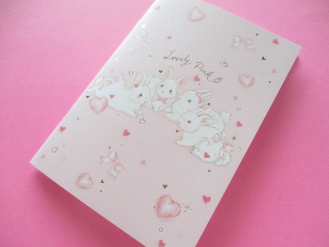Photo1: Kawaii Cute B6 Notebook たけい みき (Miki Takei ) Clothes Pin *Lovely Pink (NB-15409)
