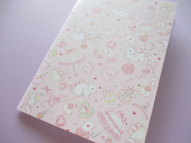 Photo1: Kawaii Cute A5 Notebook たけい みき (Miki Takei ) Clothes Pin *Lovely Pink (NB-15403)