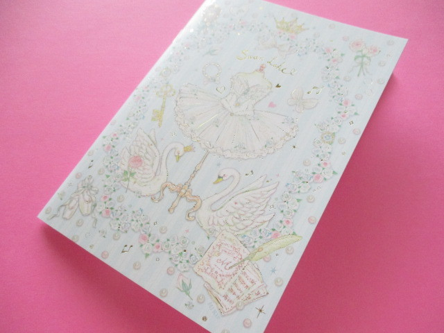 Photo1: Kawaii Cute B6 Notebook たけい みき (Miki Takei ) Clothes Pin *Cassical Swan (NB-15408)