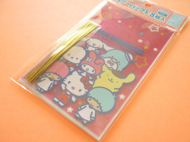 Photo1: 8pcs Kawaii Cute Sanrio Characters  Clear Bags Set (CBS-MIX)