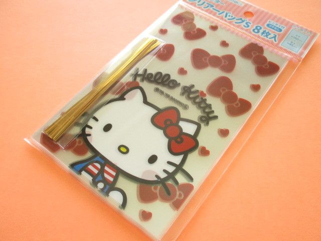 Photo1: 8pcs Kawaii Cute Hello Kitty Clear Bags Set (CBS-KT)