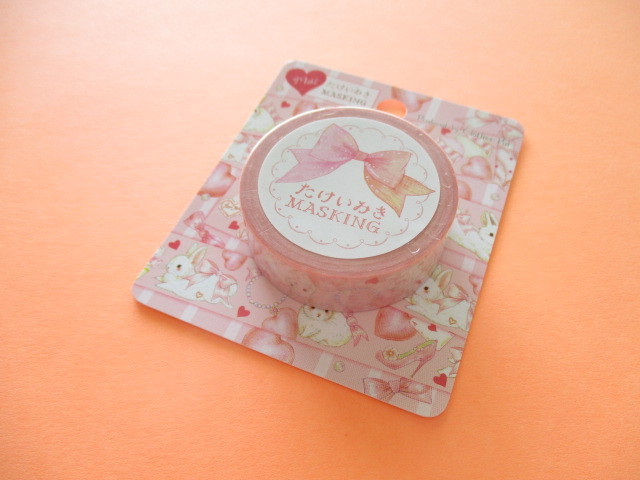 Photo1: Kawaii Cute Masking Tape Sticker たけいみき (Takei Miki) Clothes Pin *Lovely Pink (MT-15415)