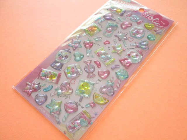 Photo1: Kawaii Cute Melty Holic Stickers Sheet Q-LiA *Candy (41125)