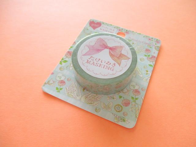 Photo1: Kawaii Cute Masking Tape Sticker たけいみき (Takei Miki) Clothes Pin *Cassical Swan (MT-15414)