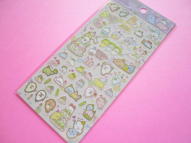 Photo1: Kawaii Cute Sticker Sheet Mamegoma San-x *Mame Party (SE47201)