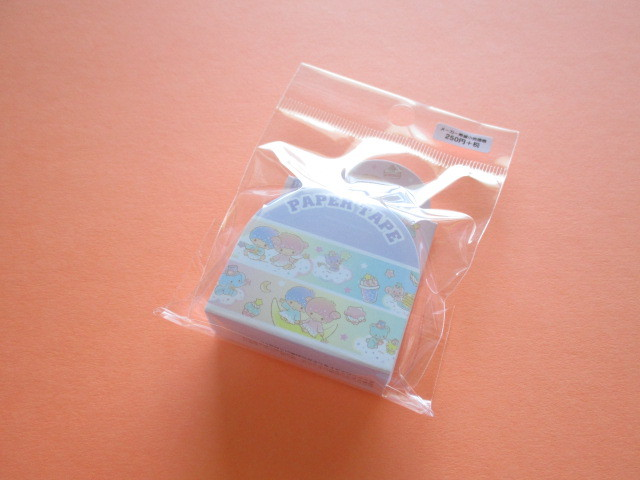 Photo1: Kawaii Cute Masking Tape/Deco Tape Sticker Sanrio Original * Little Twin Stars (37464-4)