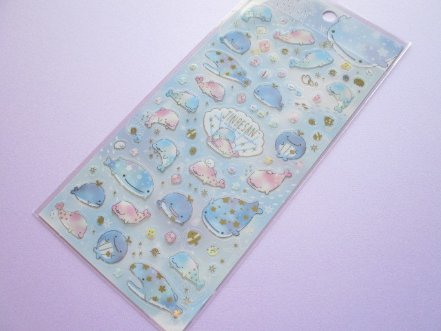 Photo1: Kawaii Cute Sticker Sheet Jinbesan San-x *Pearl Dolphin (SE46401)