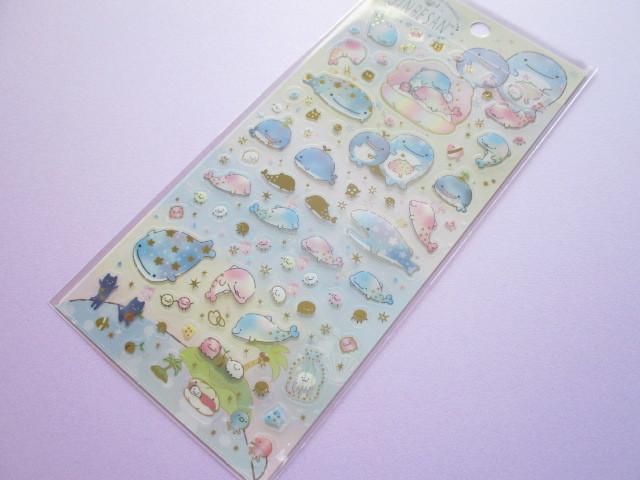 Photo1: Kawaii Cute Sticker Sheet Jinbesan San-x *Pearl Dolphin (SE46301)