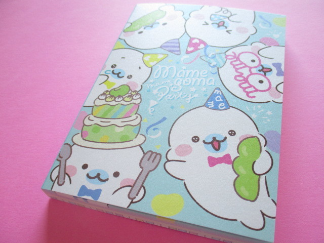 Photo1: Kawaii Cute Large Memo Pad  Mamegoma San-x *Mame Party (MW62901)