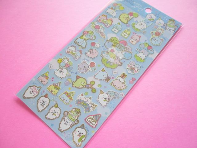 Photo1: Kawaii Cute Sticker Sheet Mamegoma San-x *Mame Party (SE47101)