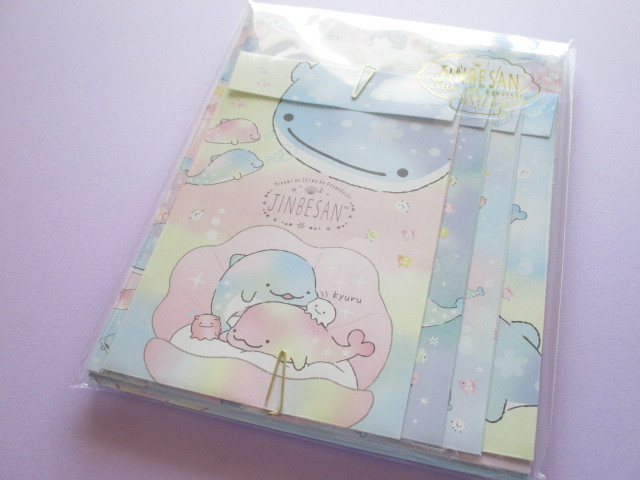 Photo1: Kawaii Cute Regular Letter Set Jinbesan San-x *Pearl Dolphin (LH70001)