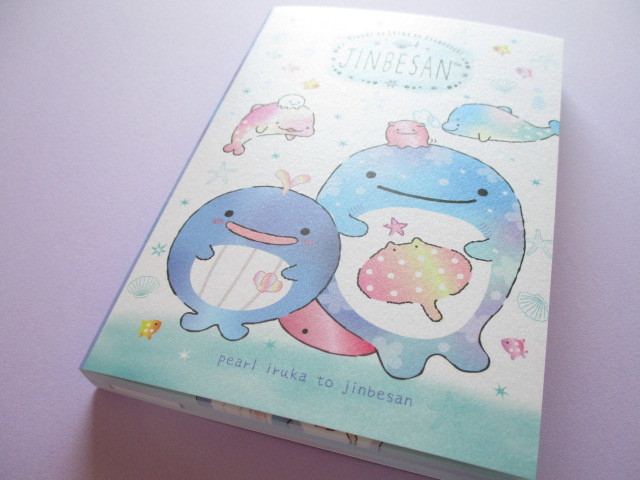 Photo1: Kawaii Cute Large Memo Pad Jinbesan San-x *Pearl Dolphin (MW61501)