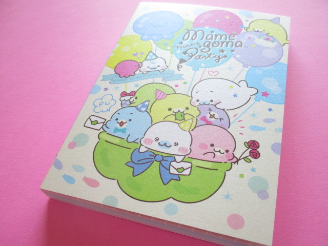 Photo1: Kawaii Cute Large Memo Pad  Mamegoma San-x *Mame Party (MW63001)
