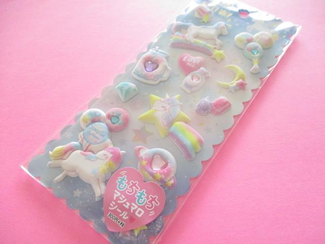 Photo1: Kawaii Cute Puffy Marshmallow Stickers Sheet Crux *Sparkle Milky Way (73032)