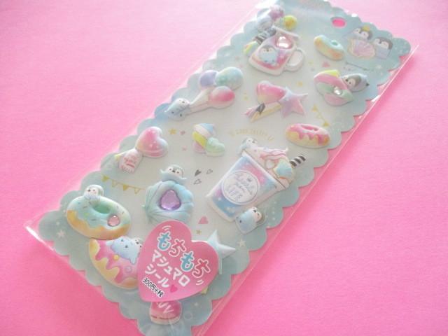Photo1: Kawaii Cute Puffy Marshmallow Stickers Sheet Crux *Little Pen Life (73036)